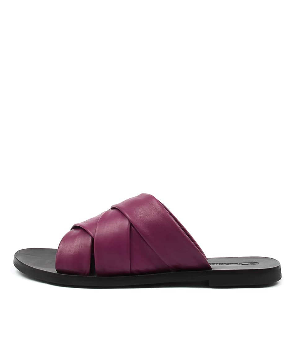Sol Sana Nora Slide Berry Casual Flat Sandals