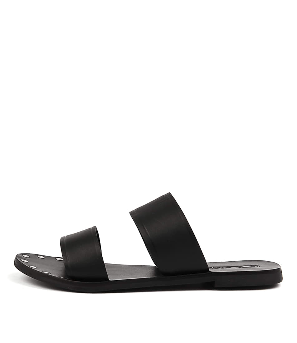 Sol Sana Tali Slide Black Casual Flat Sandals