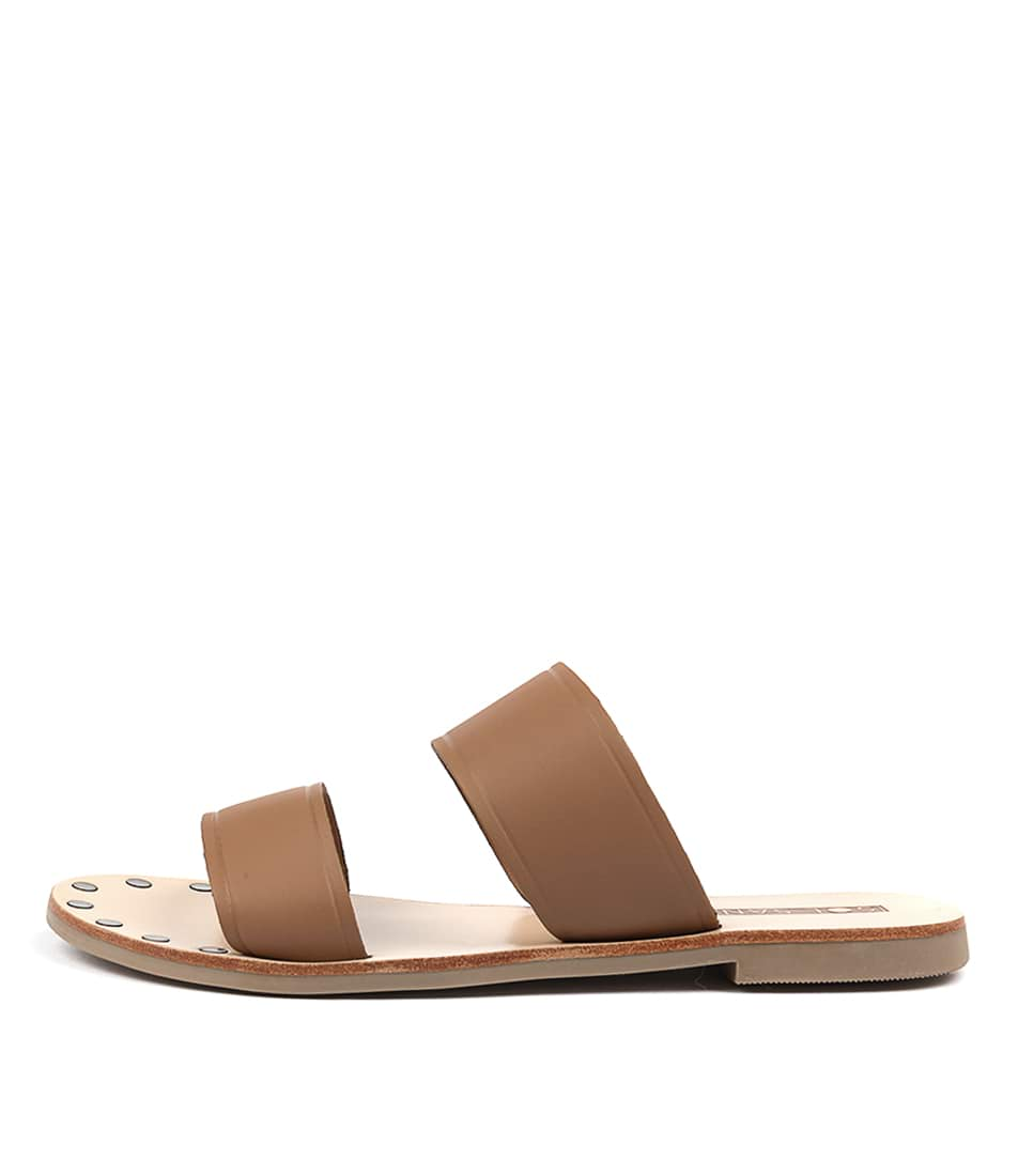Sol Sana Tali Slide Tan Casual Flat Sandals