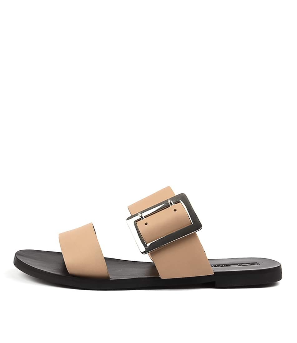 Sol Sana April Ii Slide Natural Casual Flat Sandals