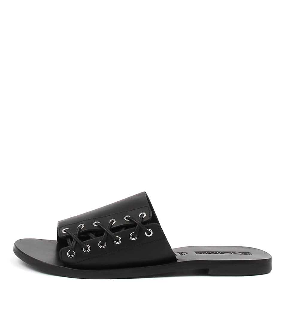Sol Sana Mac Slide Black Casual Flat Sandals