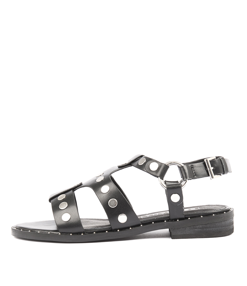 Buy Sol Sana Gunther Black Studs Flat Sandals online with free shipping