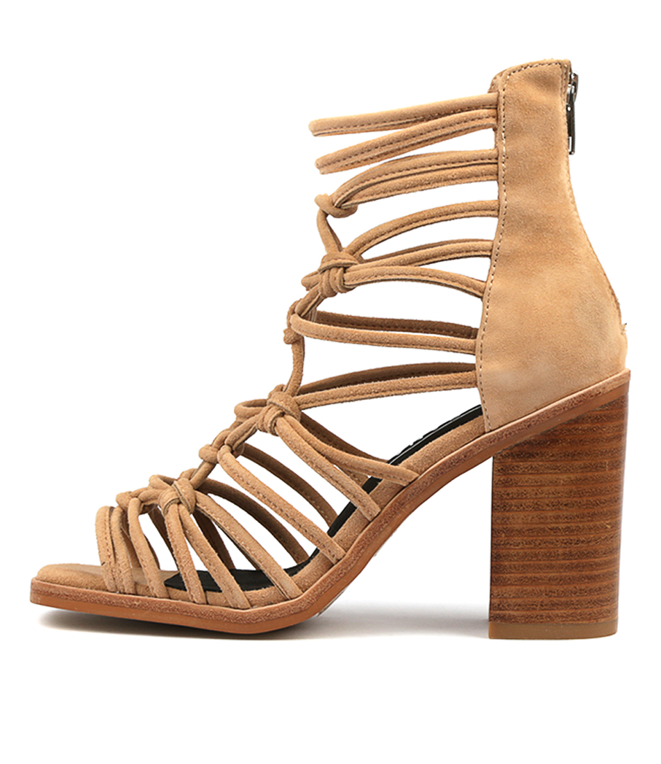 Buy Sol Sana Brandy Heel Lt Tan Heeled Sandals online with free shipping