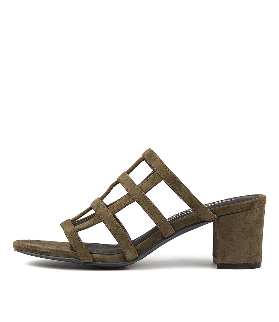 Buy Sol Sana Spencer Mule Moss High Heels online with free shipping