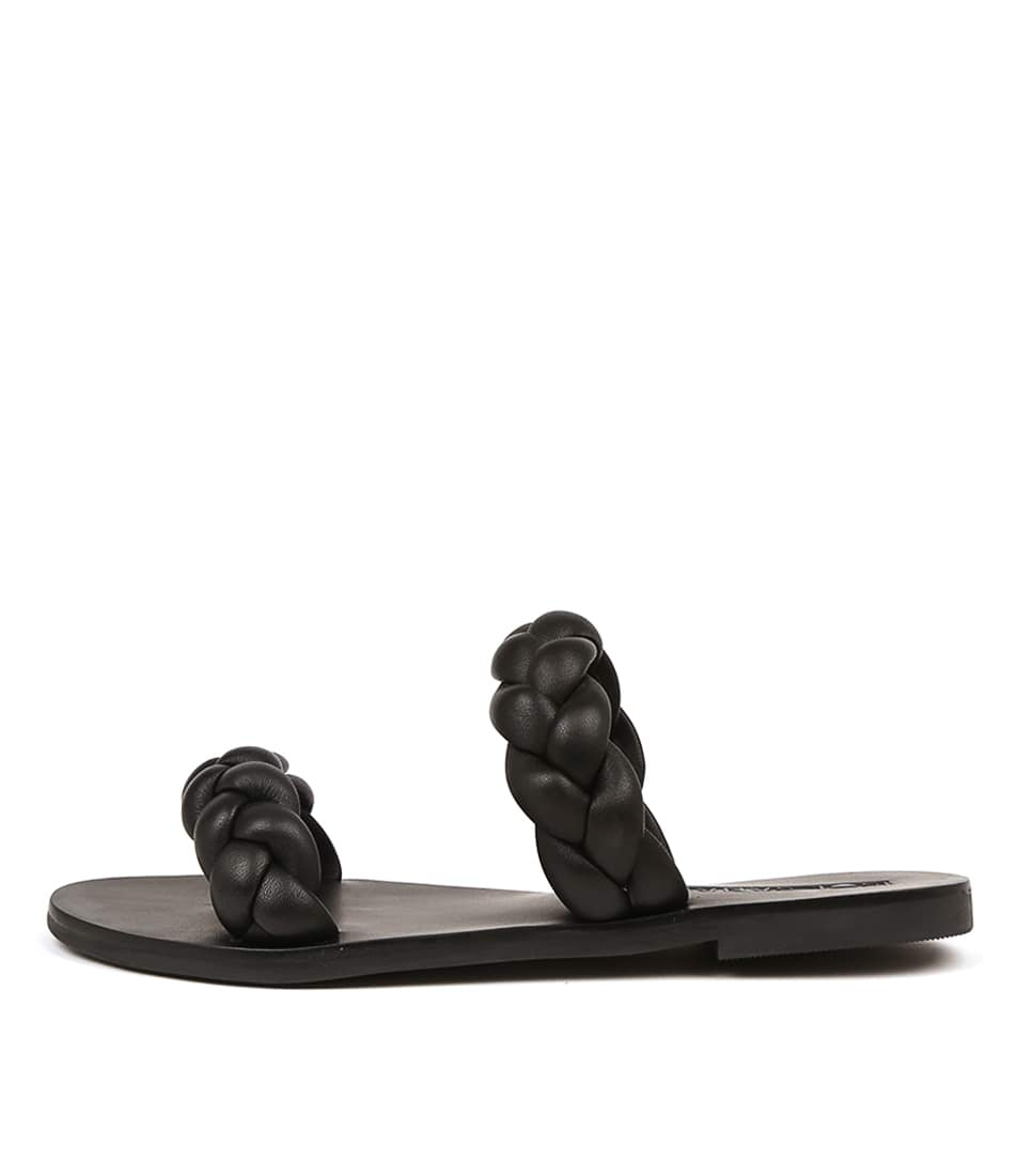 Buy Sol Sana Vera Slide Black Flat Sandals online with free shipping