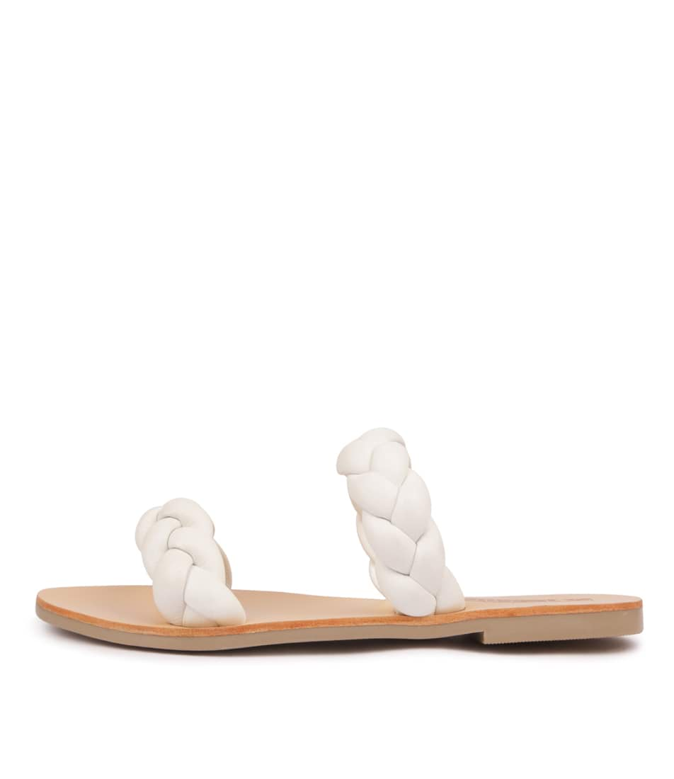Buy Sol Sana Vera Slide White Flat Sandals online with free shipping