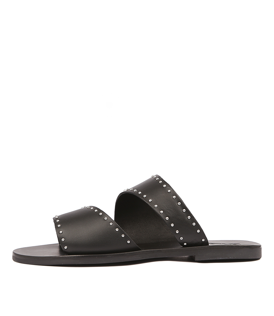 Buy Sol Sana Brody Slide Black Flat Sandals online with free shipping