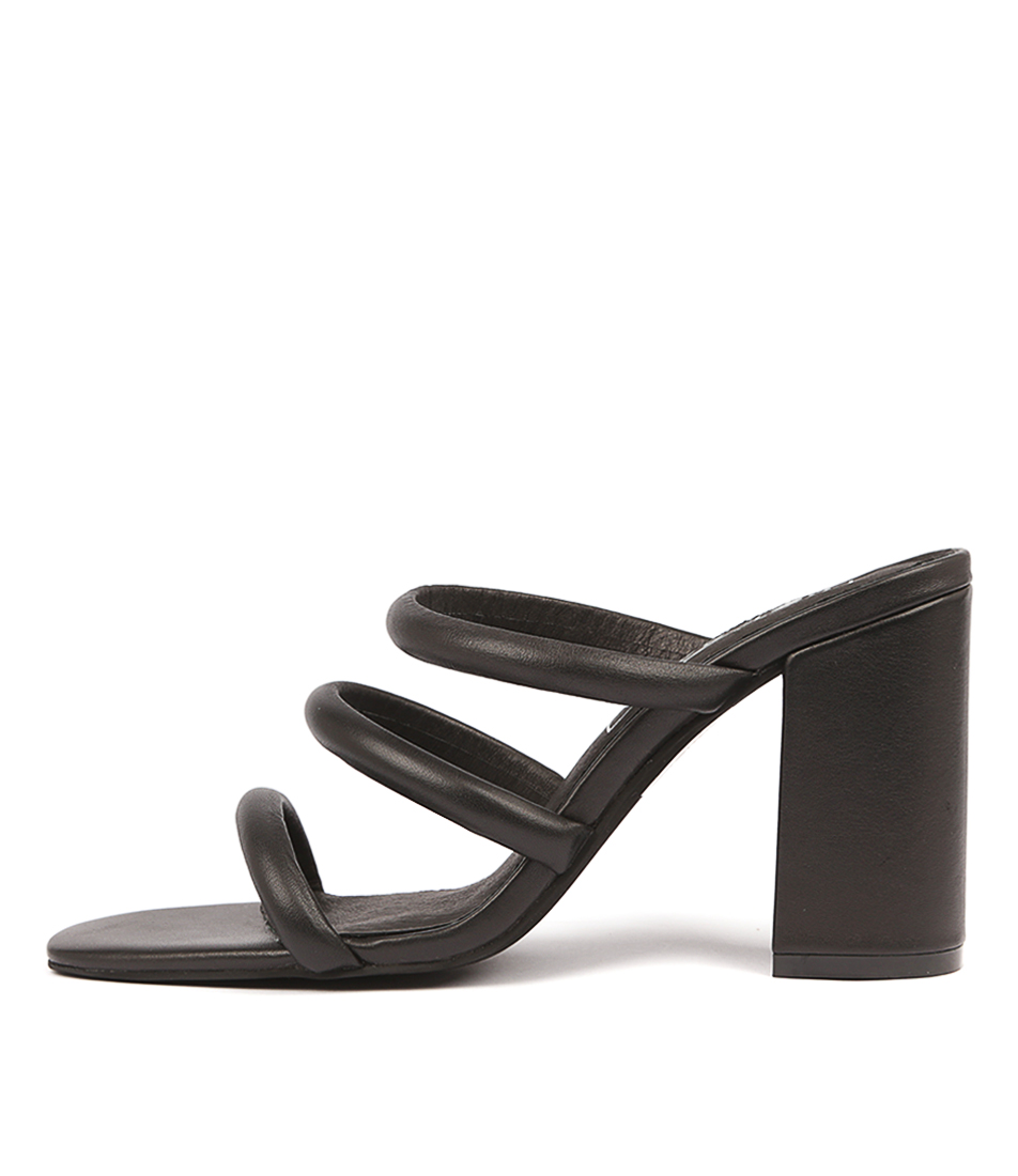 Buy Sol Sana Judy Mule Black Heeled Sandals online with free shipping