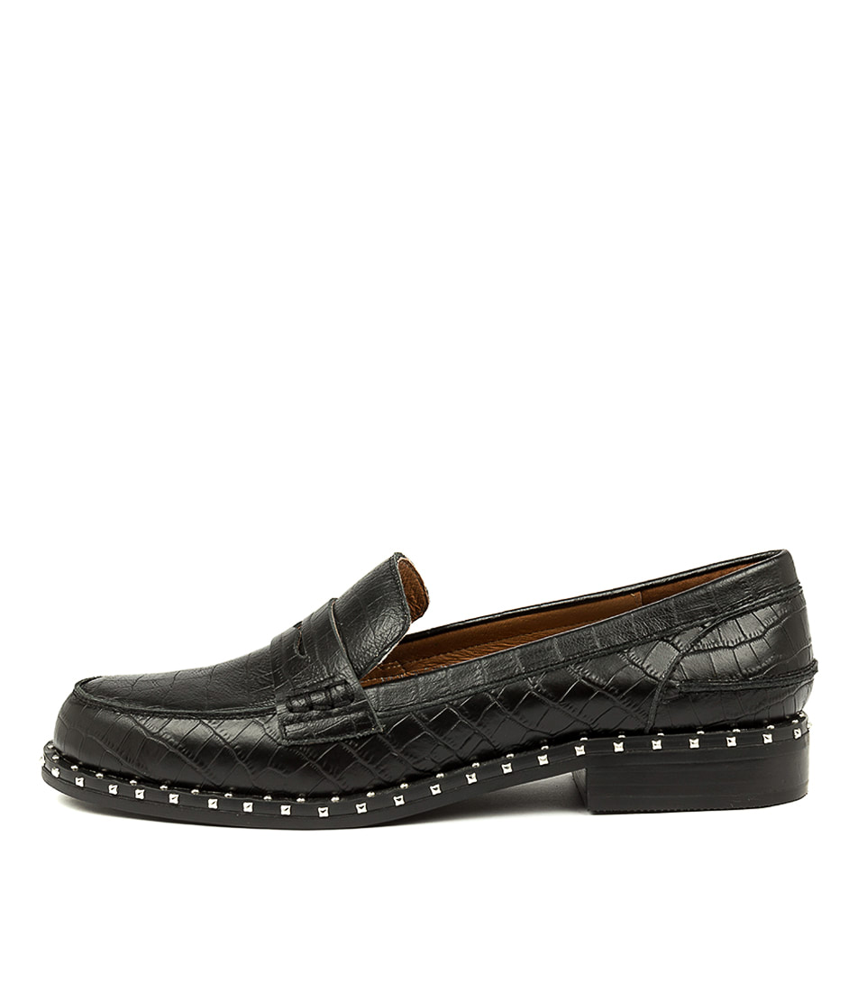 Buy Sol Sana Lloyd Loafer Black Flats online with free shipping