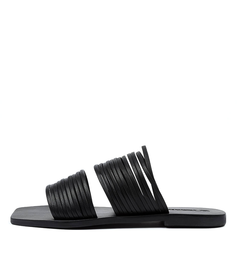 Buy Sol Sana Millie Slide Ss Black Flat Sandals online with free shipping