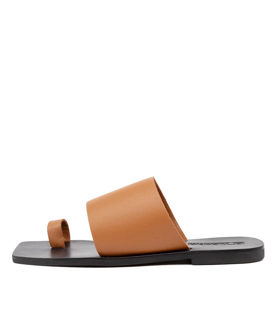 Buy Sol Sana Venus Slide Ss Tan Flat Sandals online with free shipping
