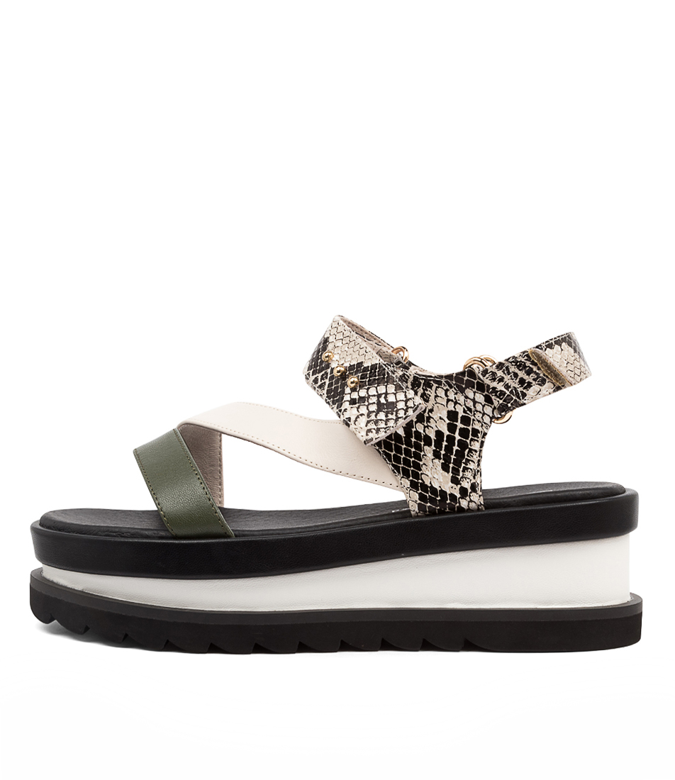 Buy Sol Sana Bimba Wedge Ss Python Flat Sandals online with free shipping