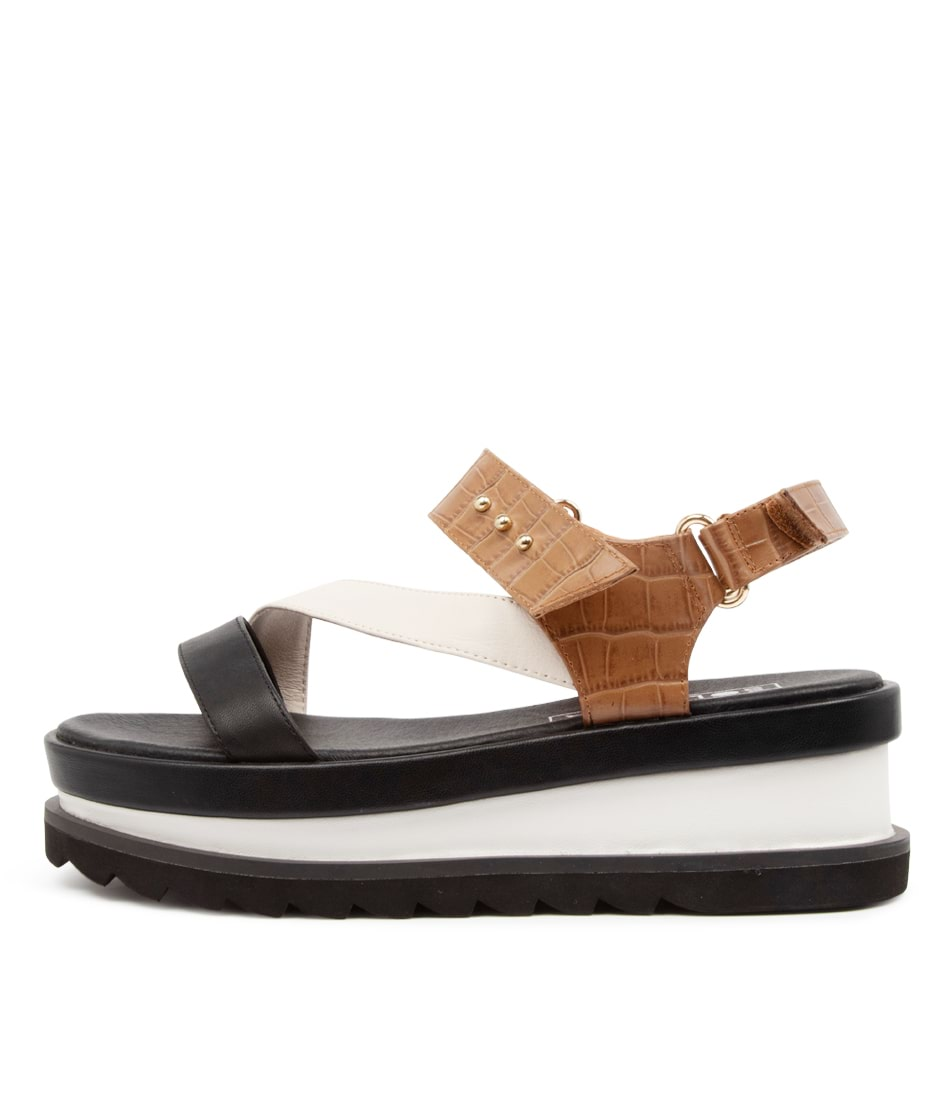 Buy Sol Sana Bimba Wedge Ss Tan Flat Sandals online with free shipping