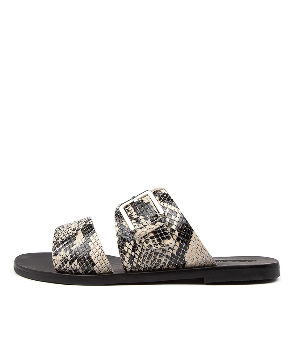 Buy Sol Sana Mati Slide Ss Python Flat Sandals online with free shipping