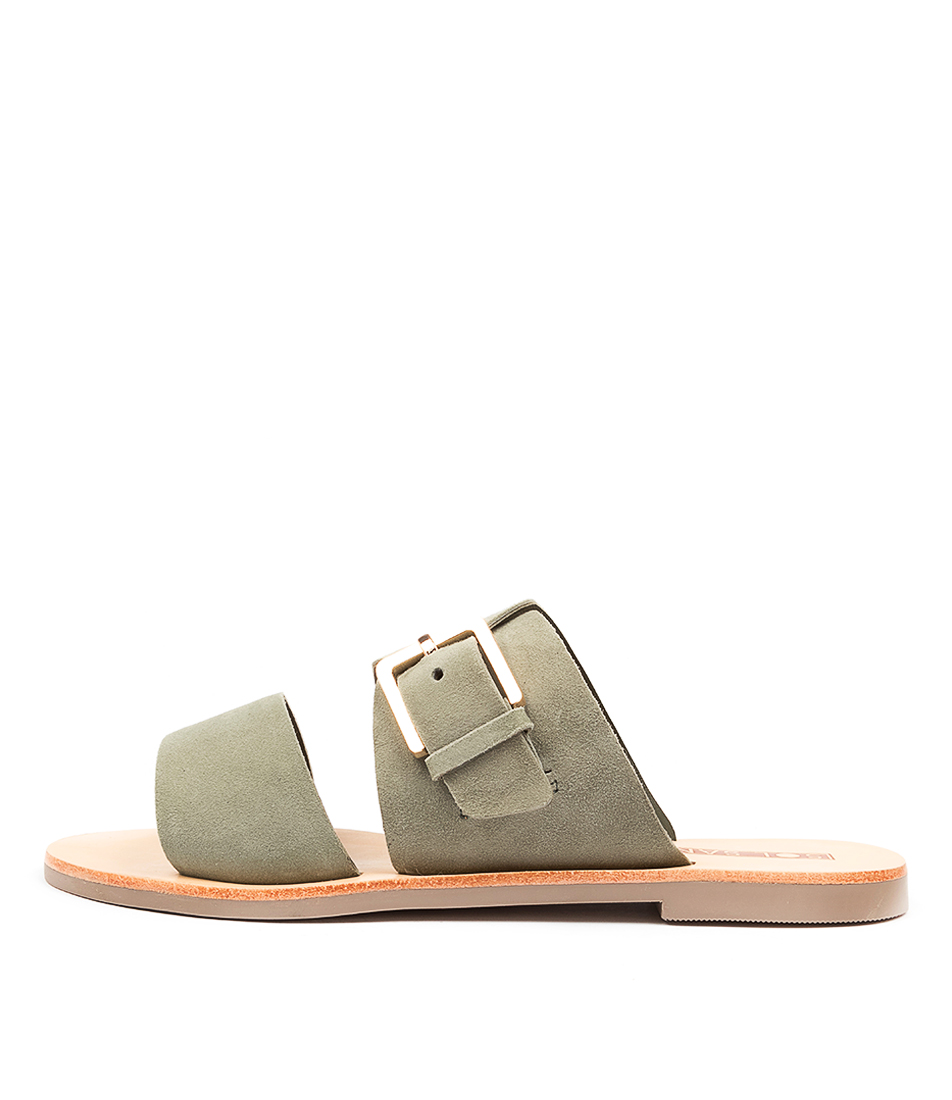 Buy Sol Sana Mati Slide Ss Khaki Flat Sandals online with free shipping