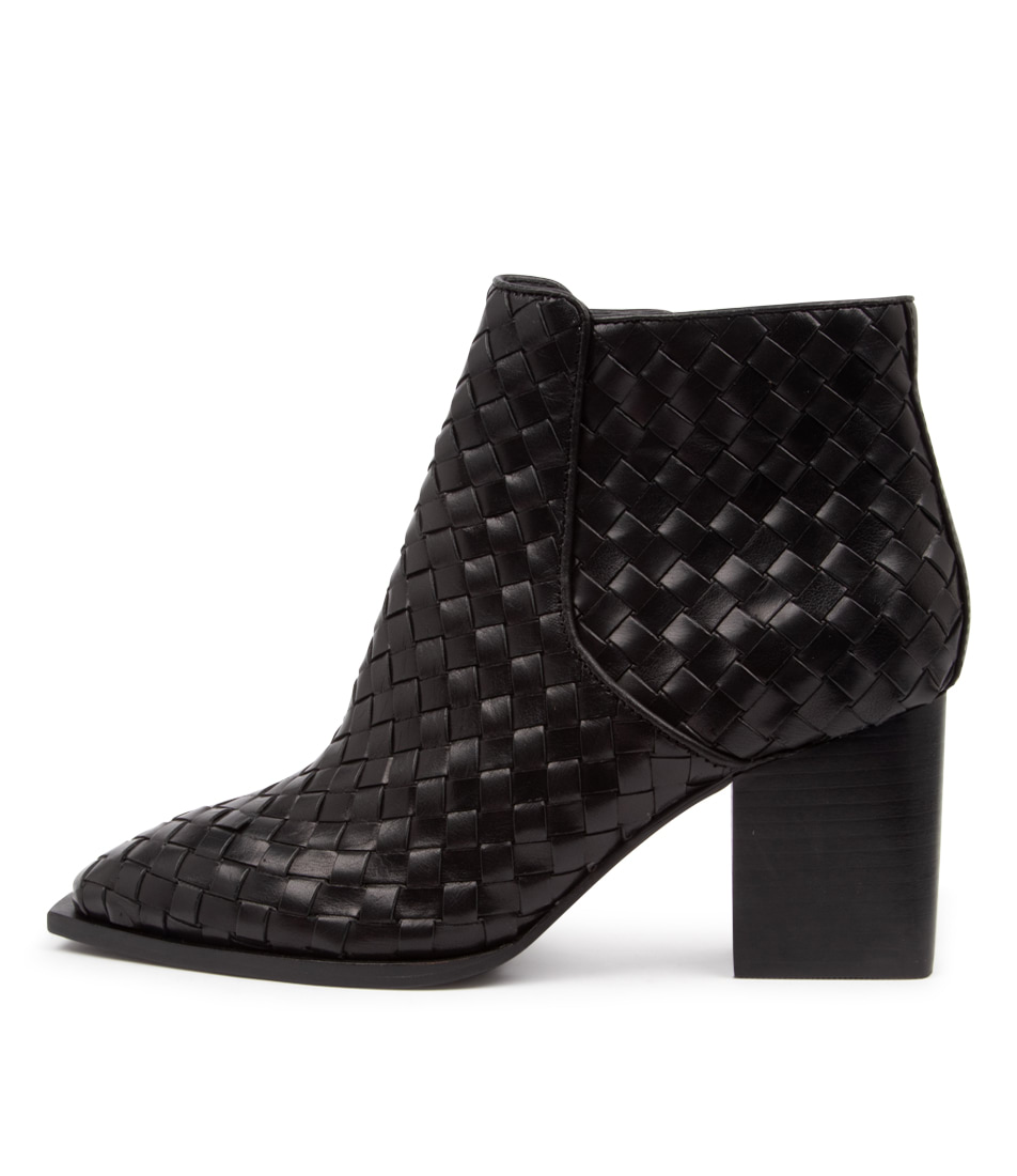 Buy Sol Sana Felix Woven Boot Ss Black Ankle Boots online with free shipping