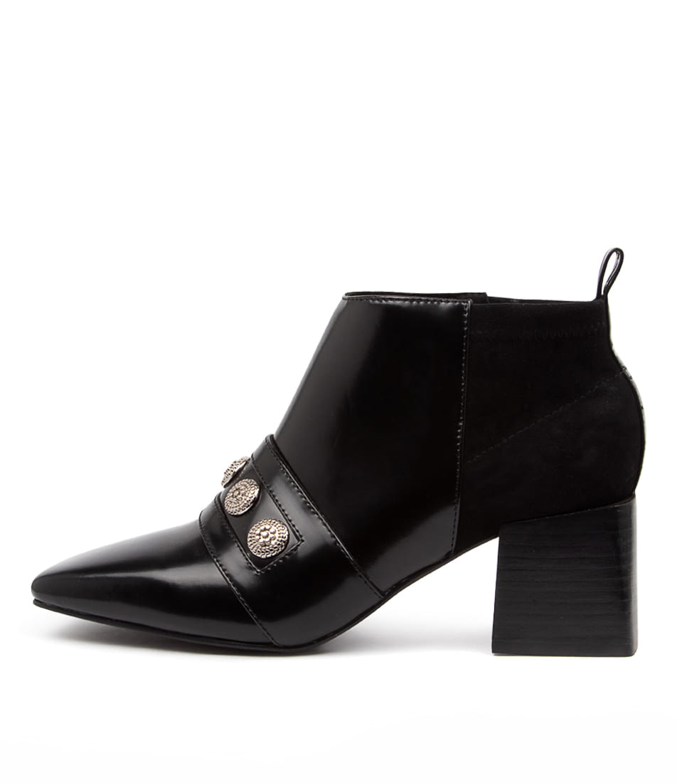 Buy Sol Sana Vermont Boot Ss Black Gloss Ankle Boots online with free shipping