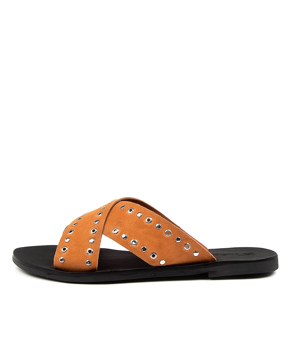 Buy Sol Sana Kimber Slide Ss Toffee Flat Sandals online with free shipping