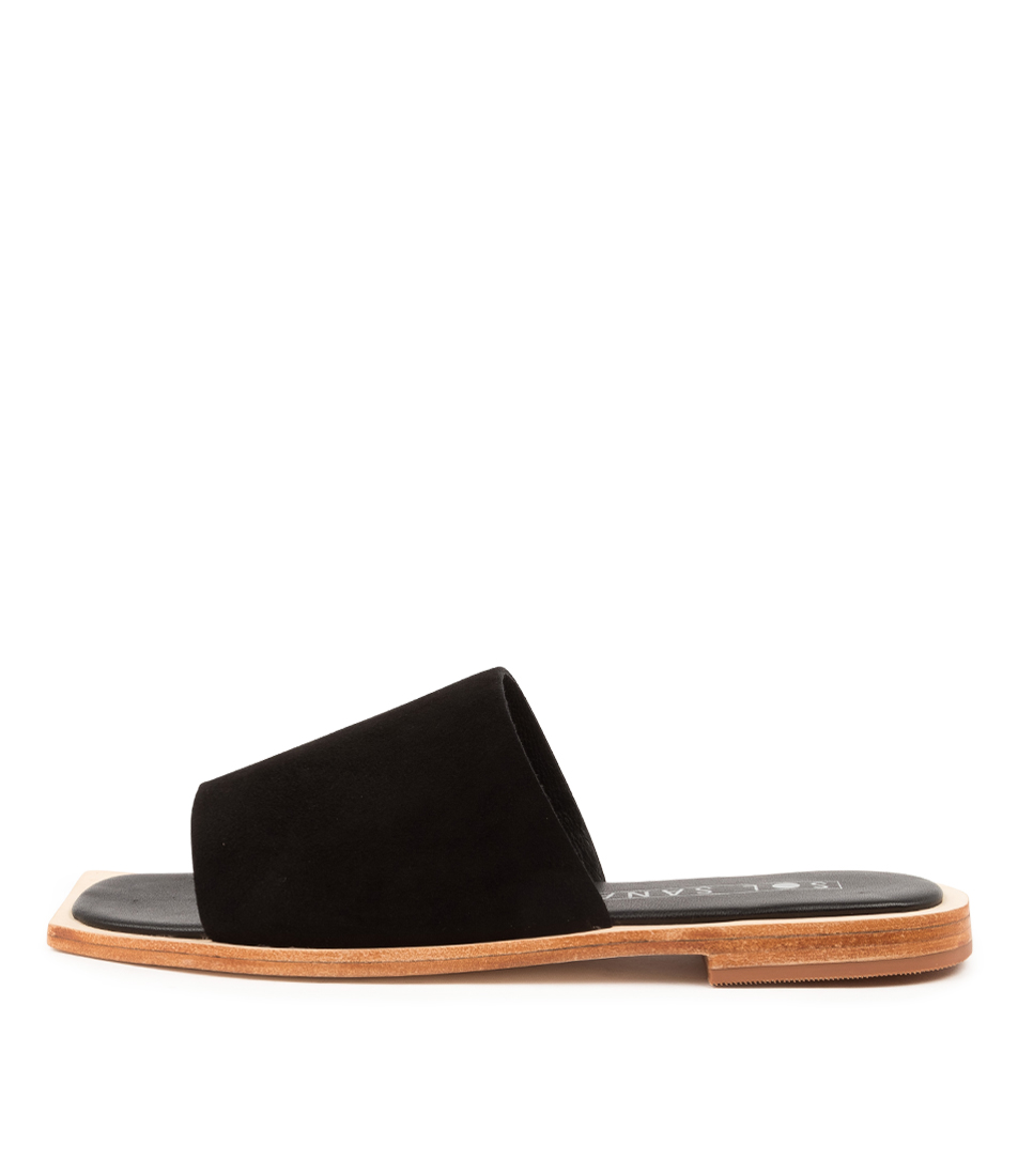 Buy Sol Sana Madonna Slide Ss Black Flat Sandals online with free shipping