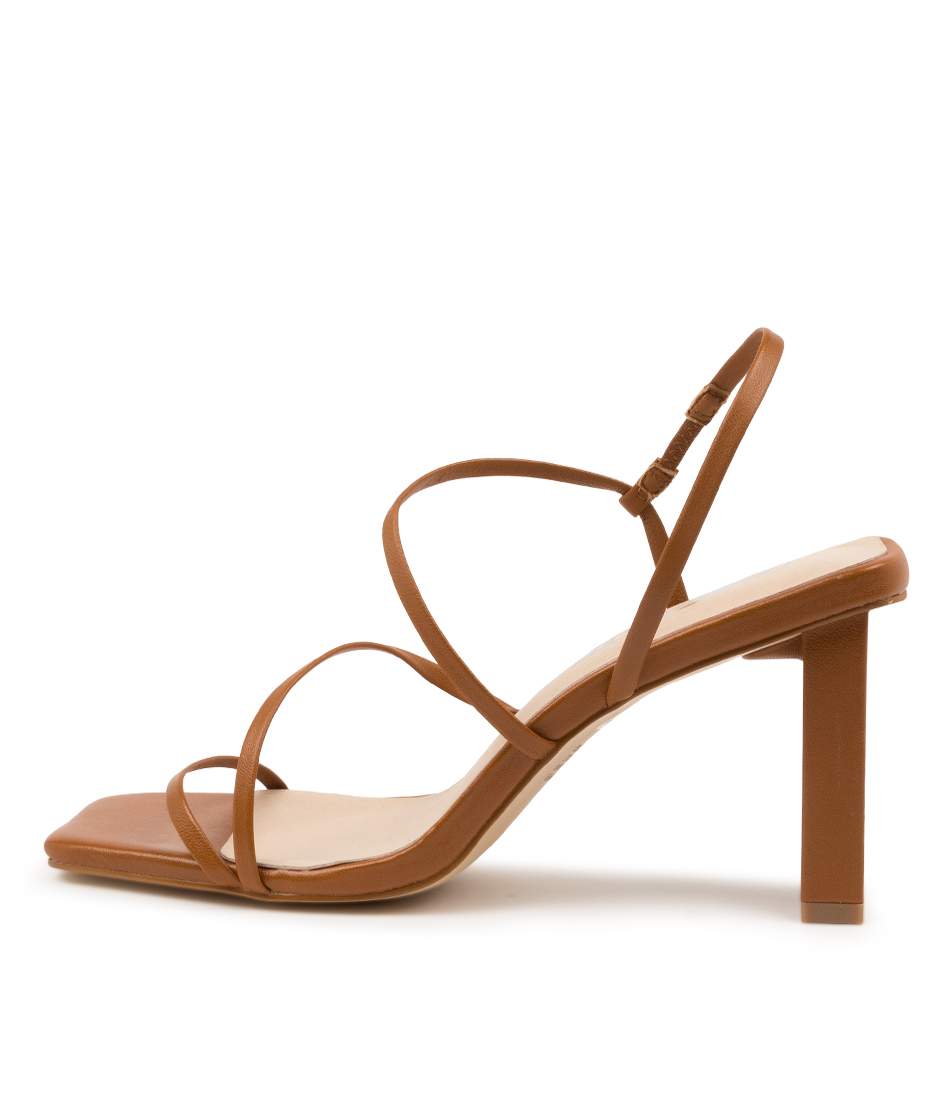 Buy Sol Sana Geanie Heel Ss Toffee Heeled Sandals online with free shipping