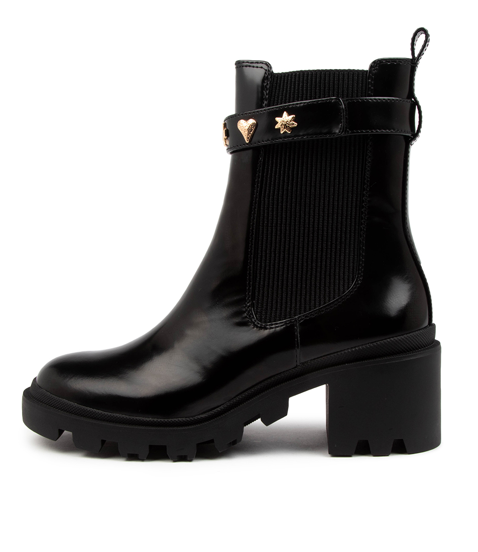 Buy Sol Sana Oliver Boot Ss Gloss Black Ankle Boots online with free shipping