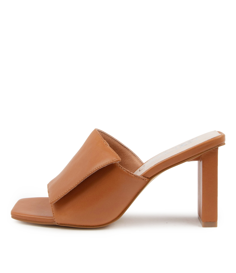 Buy Sol Sana Holden Mule Ss Toffee Heeled Sandals online with free shipping