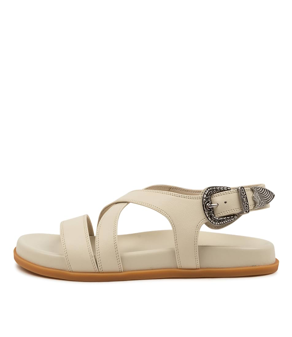 Buy Sol Sana Cairo Wedge Ss Off White Flat Sandals online with free shipping