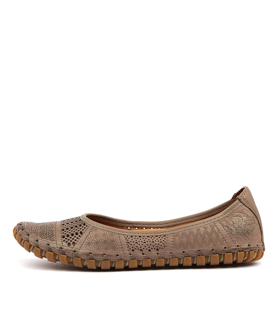 Buy Stegmann Kollap Taupe Flats online with free shipping