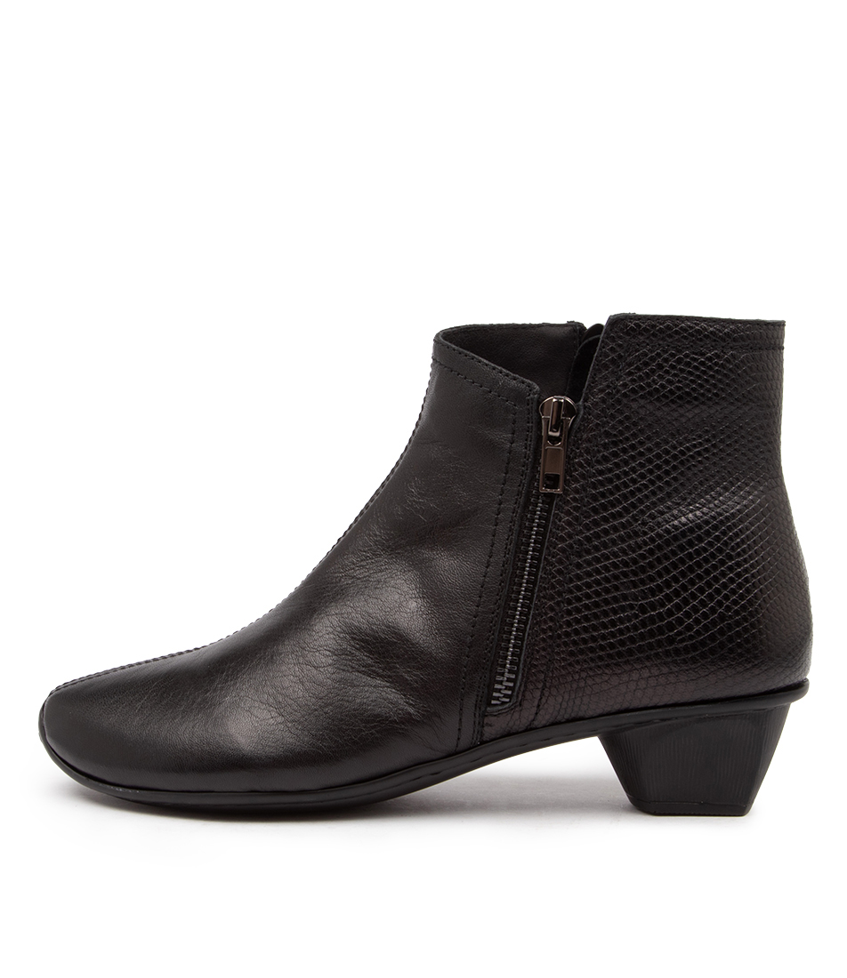 Buy Stegmann Stag St Black Lizard Ankle Boots online with free shipping
