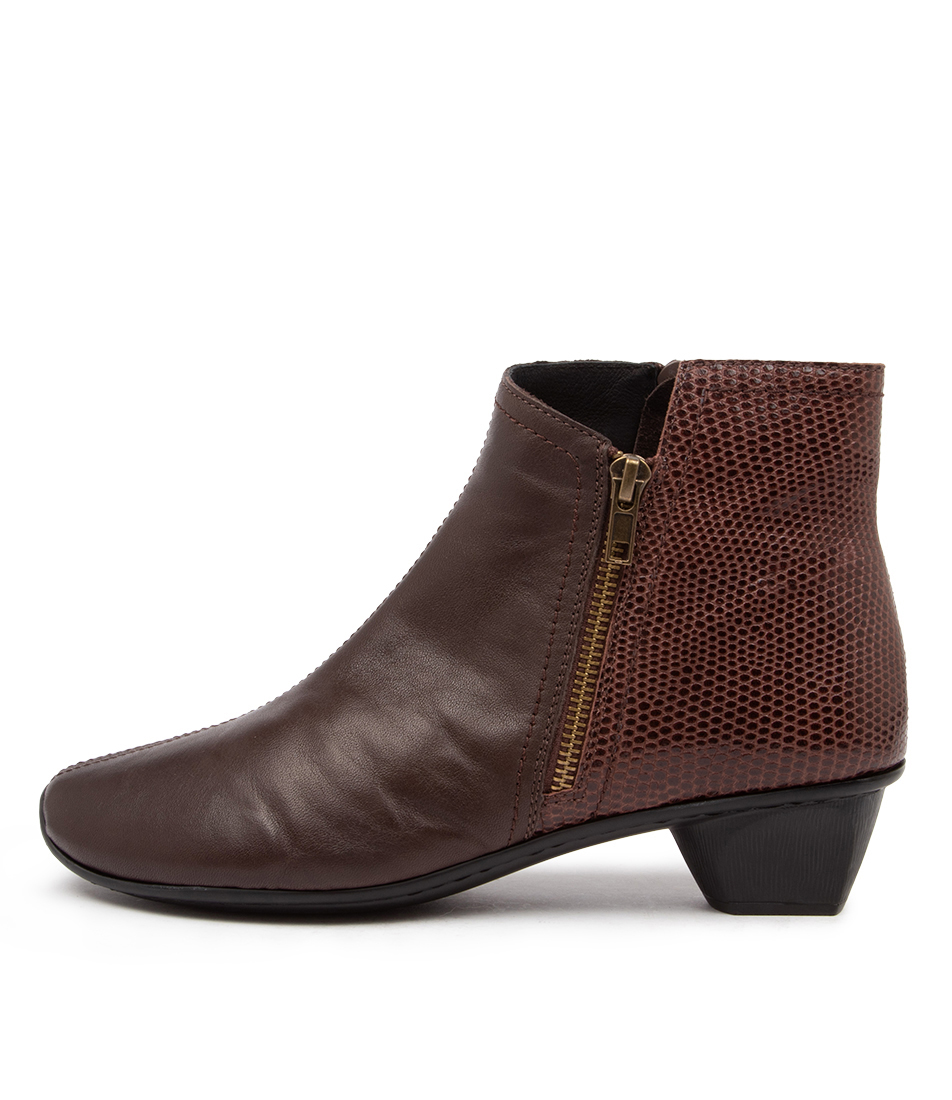 Buy Stegmann Stag St Teak Brown Lizard Ankle Boots online with free shipping