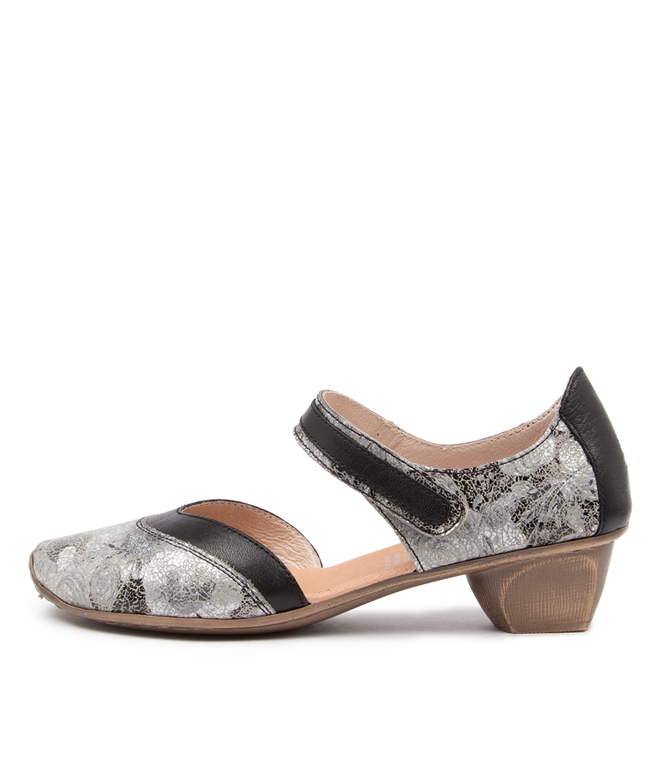 Buy Stegmann Sigorny St Grey Metallic Flower High Heels online with free shipping