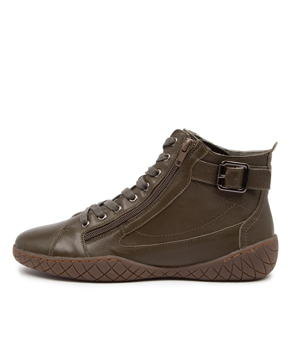 Buy Stegmann Karina St Khaki Ankle Boots online with free shipping