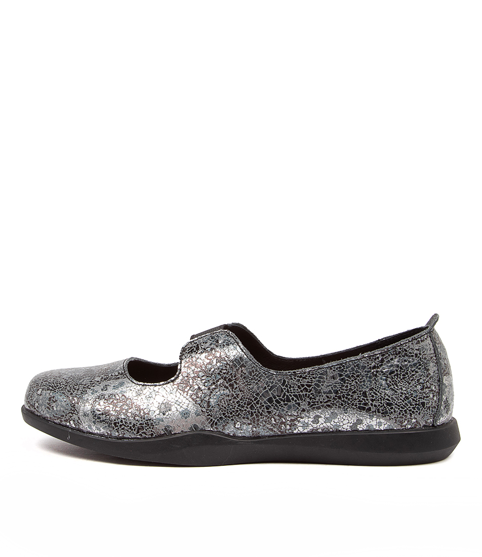 Buy Stegmann Rise St Blue Grey Paisley Flats online with free shipping