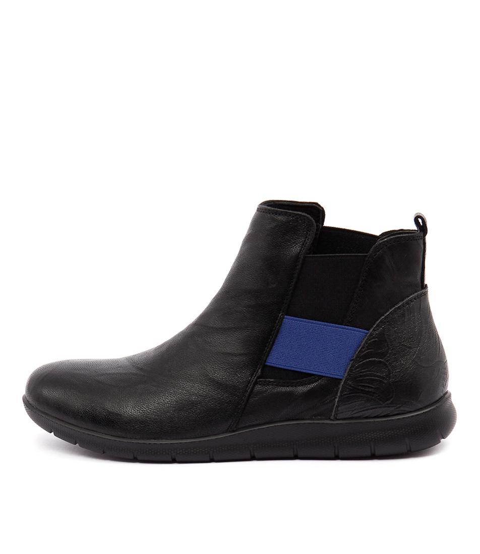 Stegmann Emily St Black Blue Boots