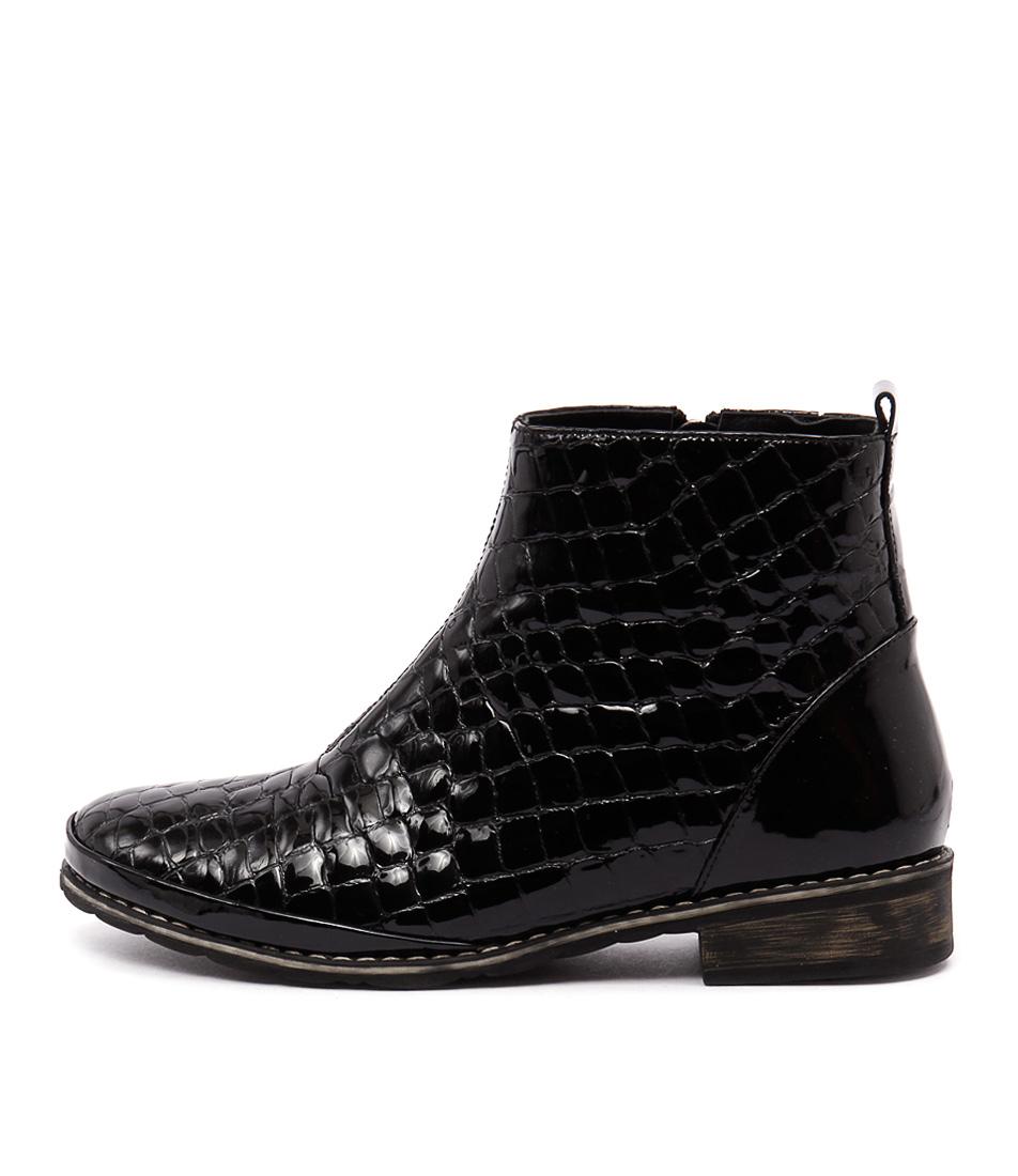 Stegmann Meltem Black Comfort Ankle Boots