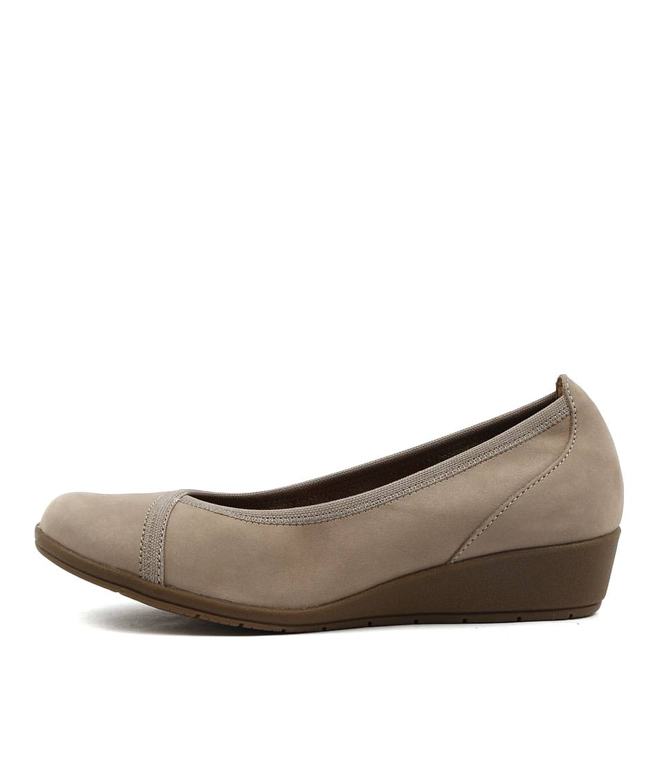 Supersoft Flexwedge Light Taupe Comfort Heeled Shoes
