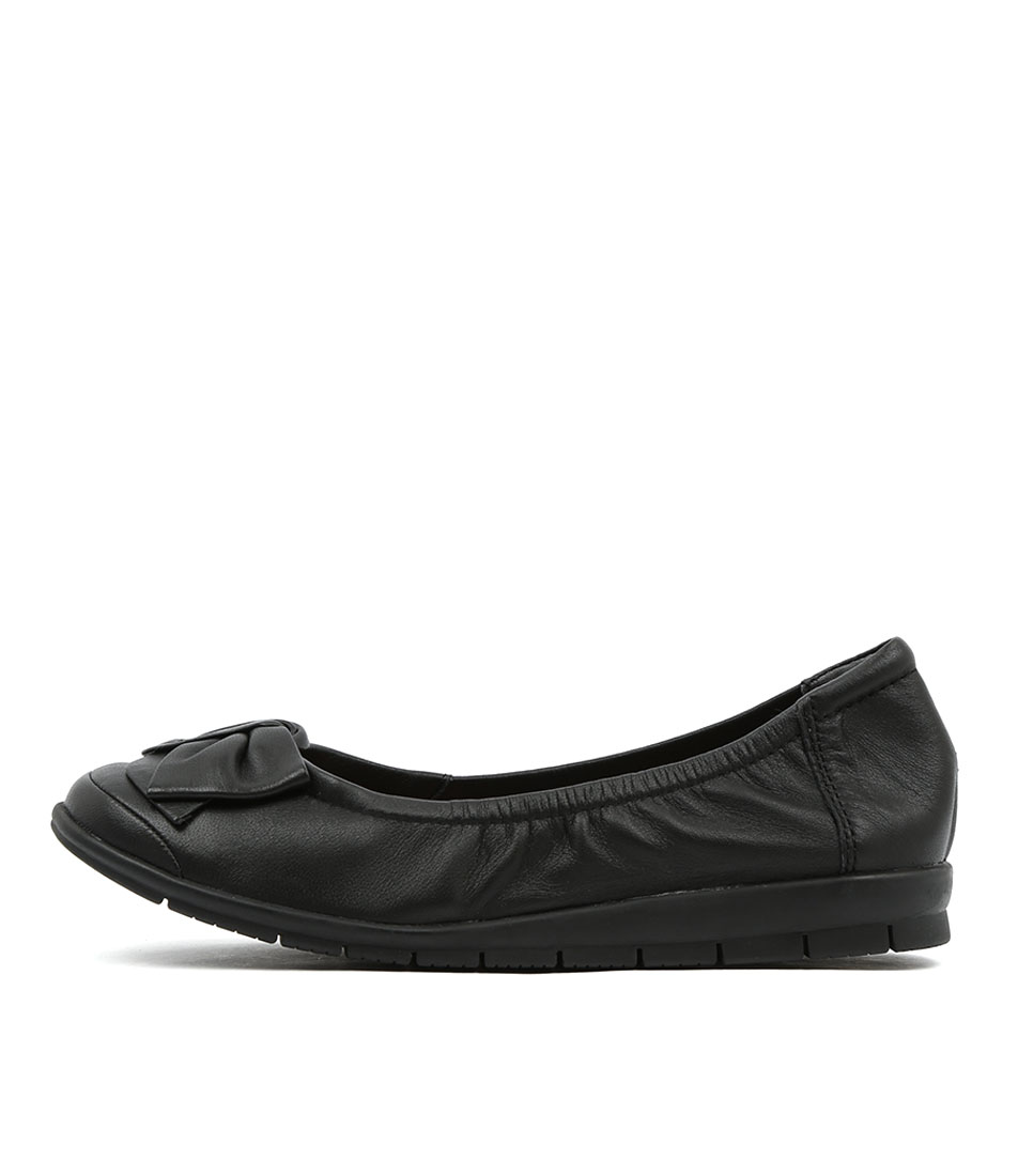 buy Supersoft Fransisco Black Comfort Flat Shoes shop Supersoft Flats online