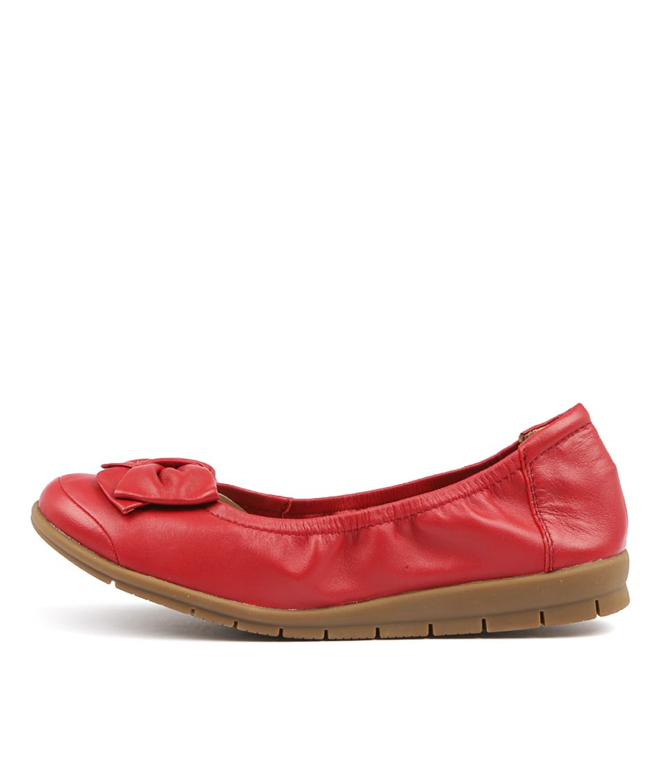 Supersoft Fransisco Red Comfort Flat Shoes