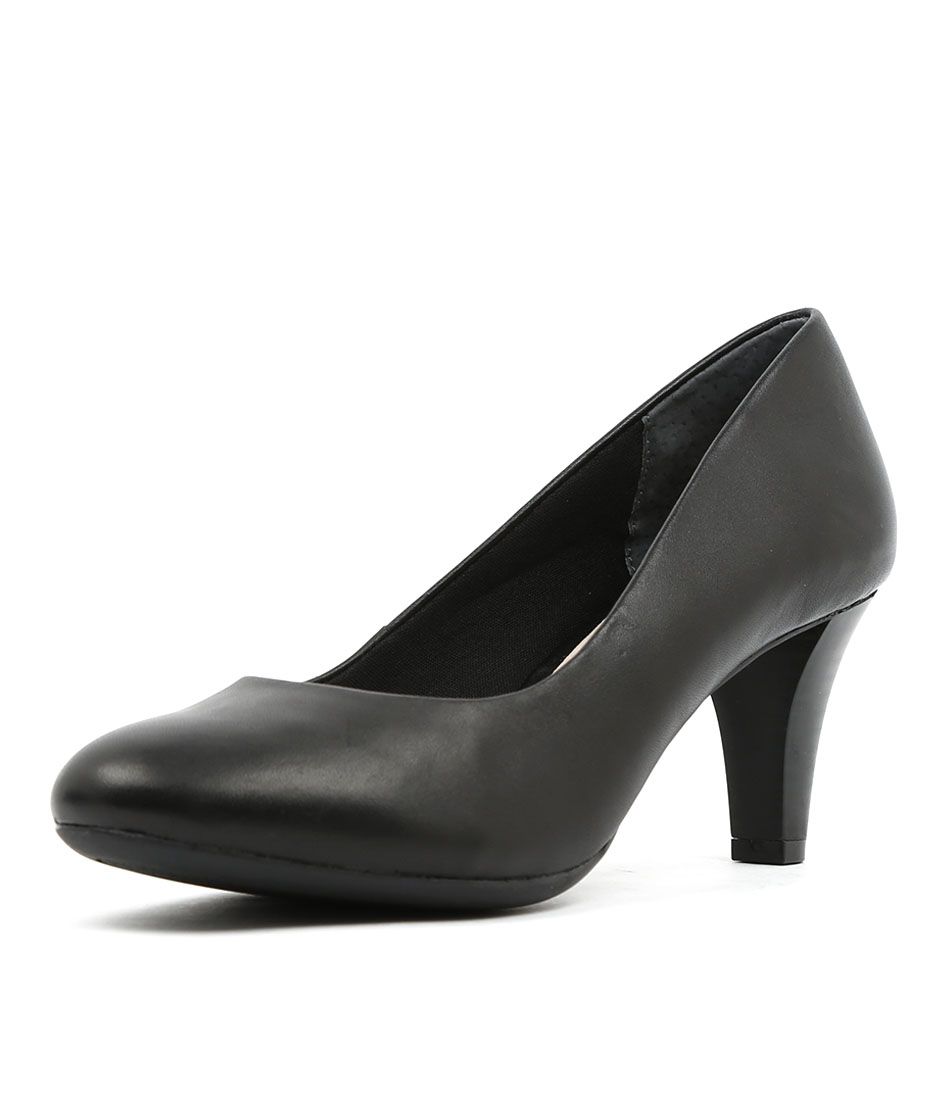 Supersoft Corey Black Dress Heeled Shoes