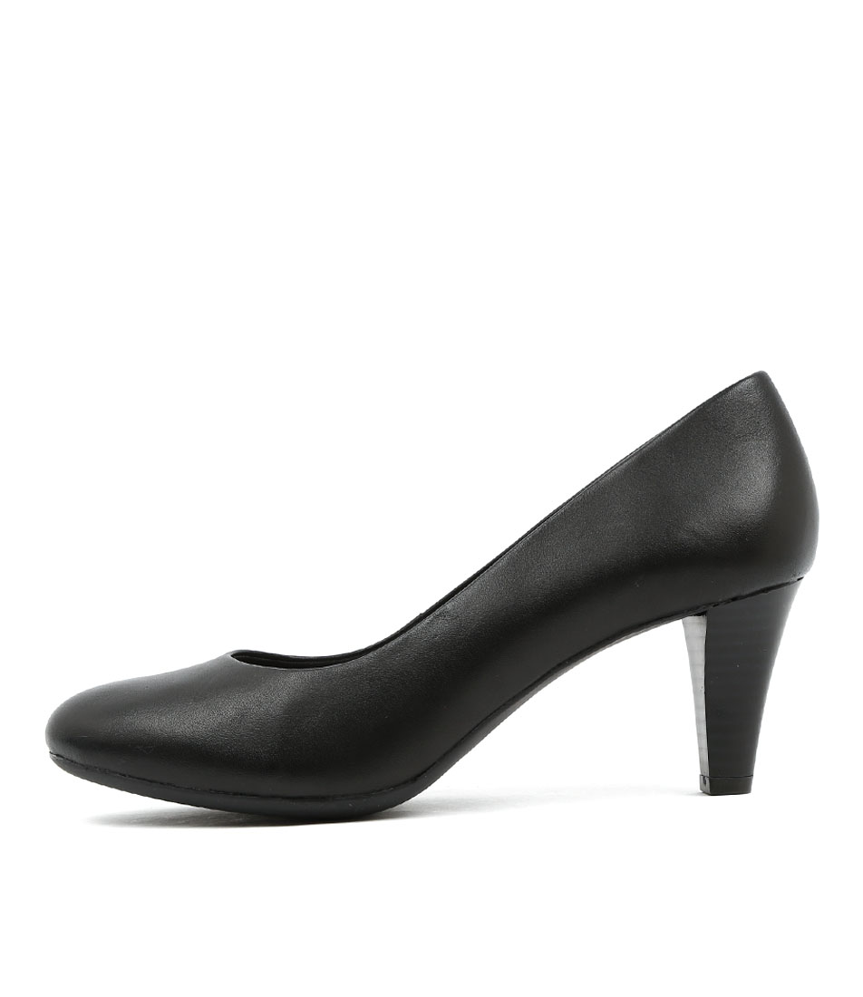 Supersoft Corey Black Heeled Shoes