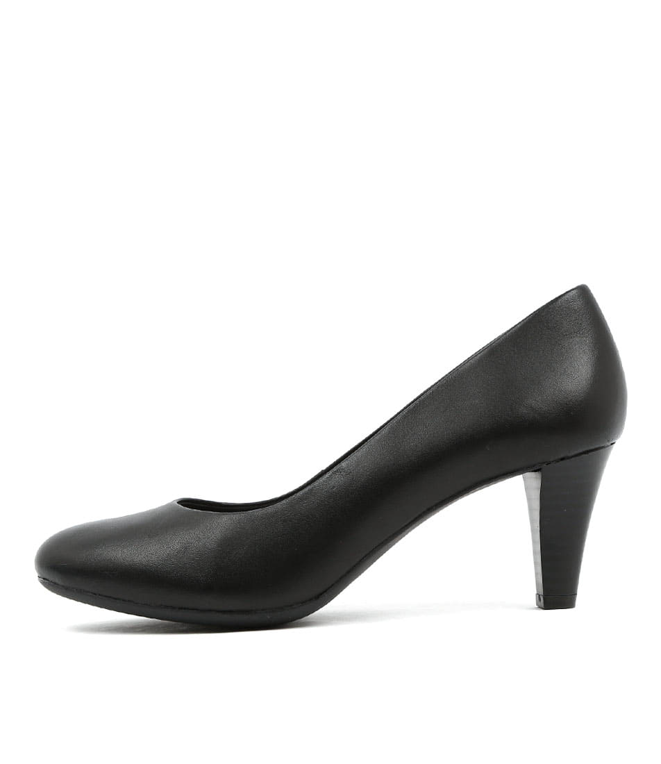 Supersoft Corey Black Dress Heeled Shoes