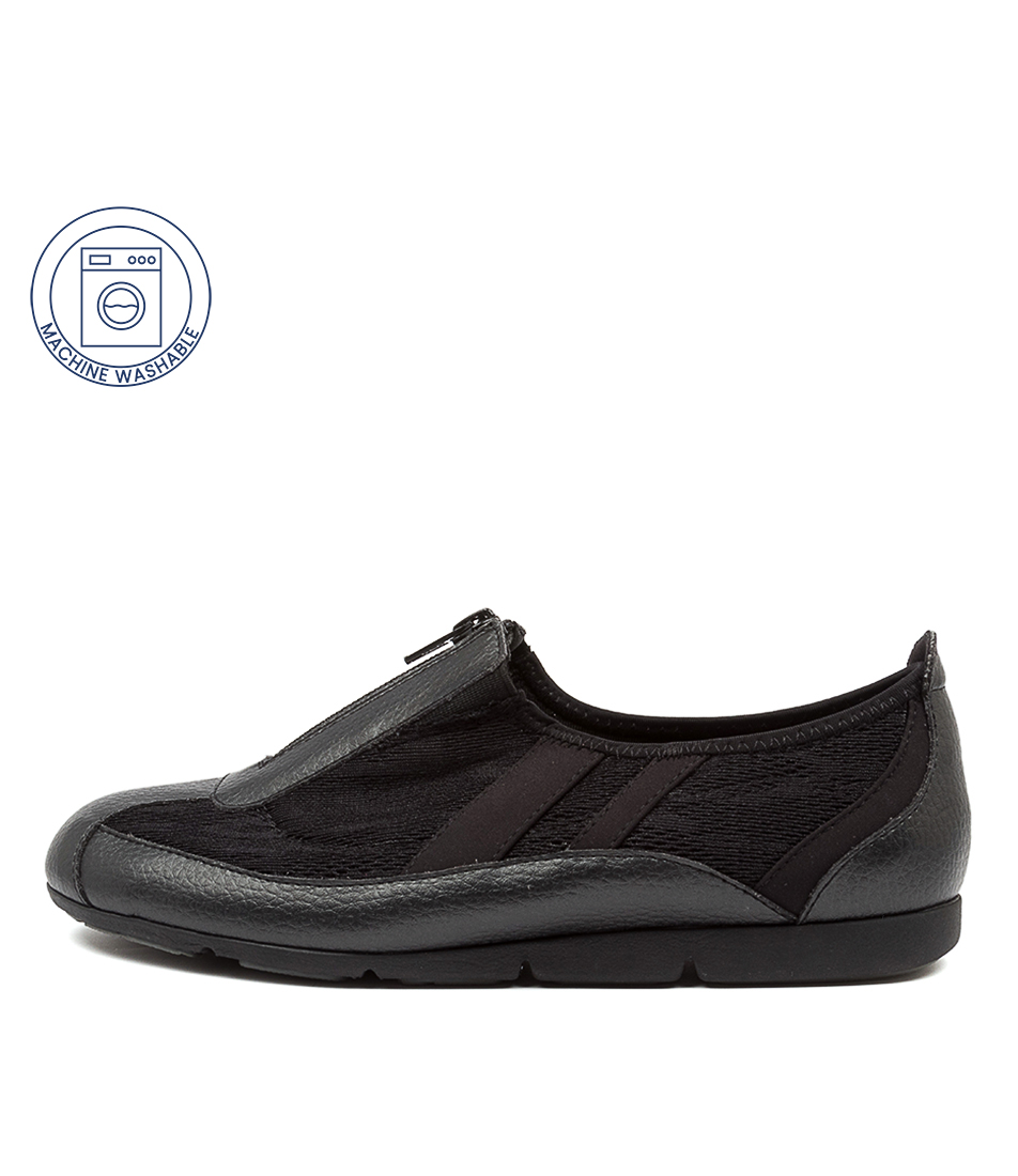 Buy Supersoft Shona Su Black Leopard Sneakers online with free shipping