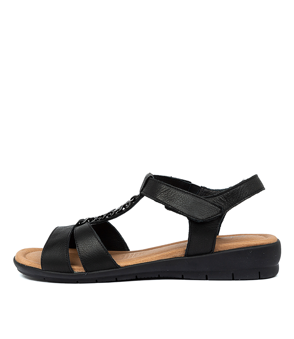 Buy Supersoft Frangelico Black E Flat Sandals online with free shipping