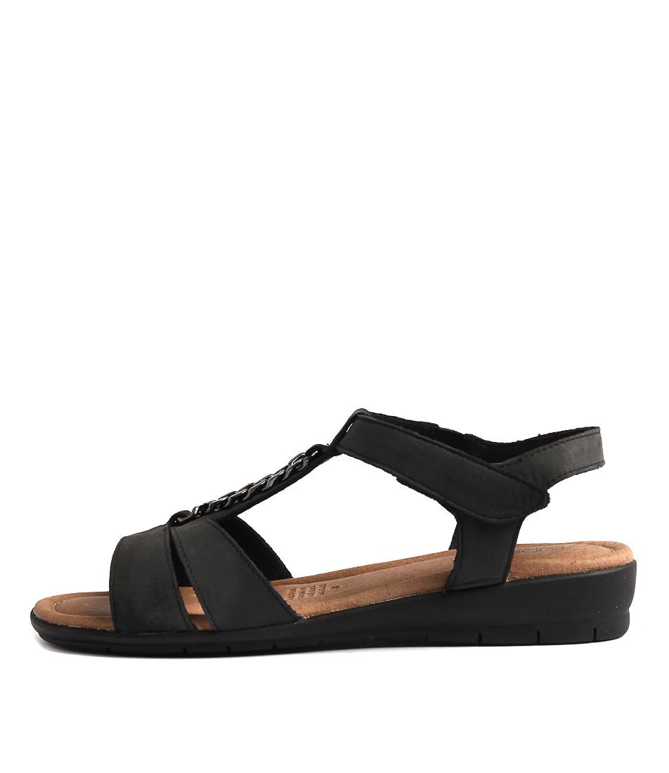 Supersoft Frangelico Black Sandals