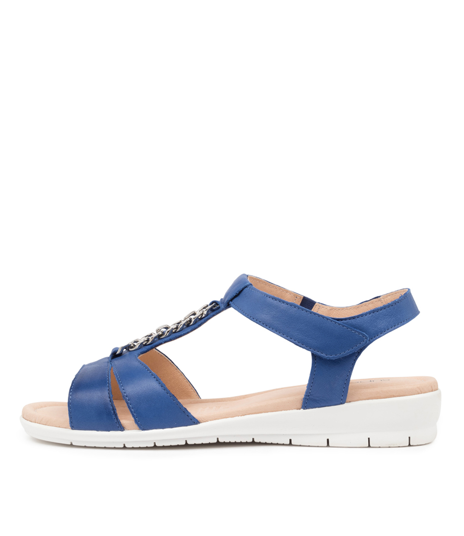 Buy Supersoft Frangelico Blue E Flat Sandals online with free shipping