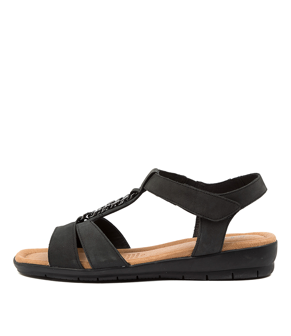 Buy Supersoft Frangelico Charcoal Flat Sandals online with free shipping