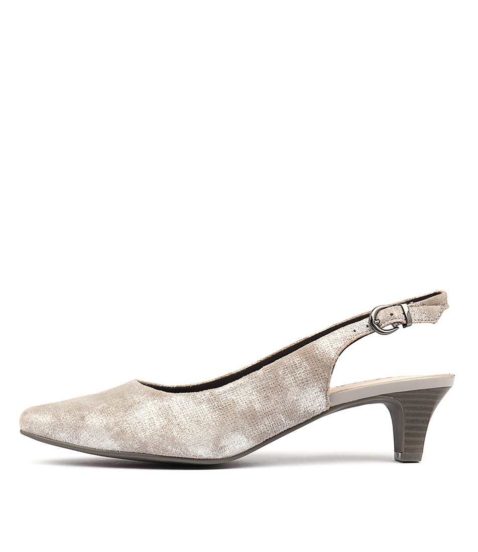 Supersoft Linden2 Grey Heeled Shoes