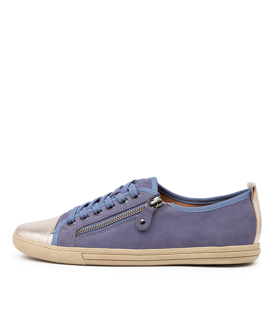 Buy Supersoft Alfie Su Blue Gunmetal Sneakers online with free shipping