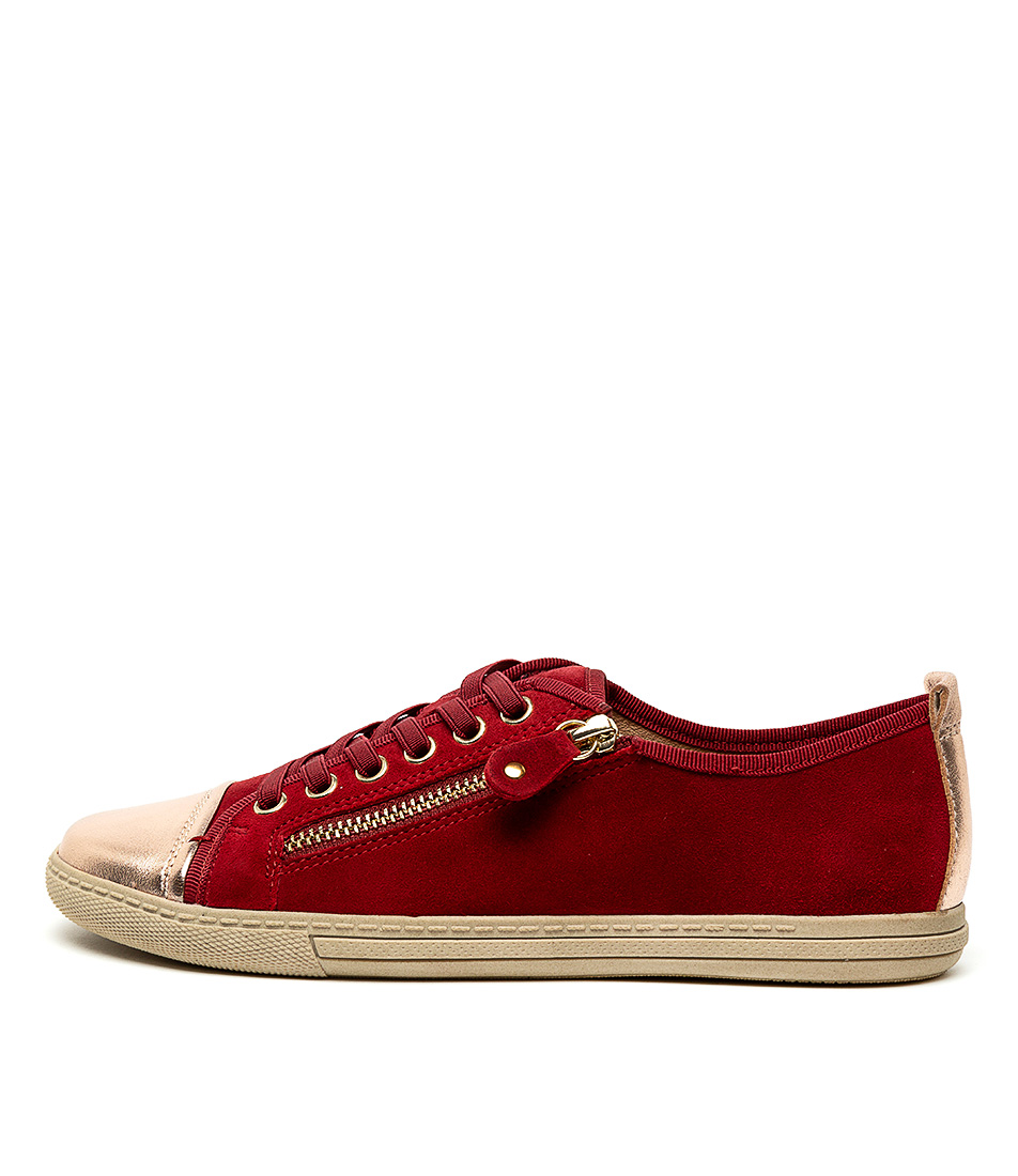 Buy Supersoft Alfie Su Red Rose Gold Sneakers online with free shipping