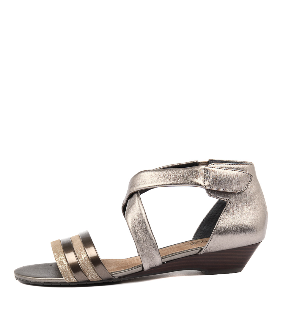 Supersoft Bryony Pewter Multi Casual Heeled Sandals